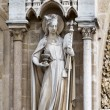 Sculptures of saints of Notre Dame de Paris — Stock Photo