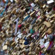 Love locks in Paris - Foto Stock