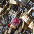 Love locks in Paris - Stok fotoraf