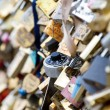 Love locks in Paris - Zdjęcie stockowe