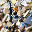 Love locks in Paris - Stock Photo