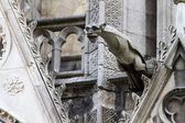 Gargoyle on Notre Dame Cathedral — Stock Photo