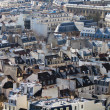 Royalty-Free Stock Photo: Aerial view of Paris roofs