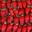 Close up of strawberry on market - Stock Photo
