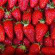 Stock Photo: Close up of strawberry on market