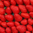 Close up of strawberry on market — Stock Photo