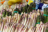 Asparagus for sale at a market — Stock Photo