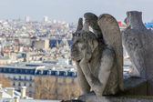 Gargoyle of the roof of Cathedral Notre Dame — Stock Photo