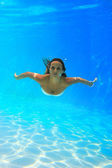 Woman underwater at the pool — Stock Photo