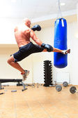 Man boxing at the gym — Stock Photo