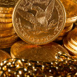 Royalty-Free Stock Photo: Five Dollars gold coins