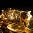 Jewels and gold coins — Stock Photo #24439451