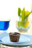 Yummy Chocolat cupcake — Stock Photo