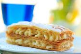 香草奶油蛋糕甜点 — 图库照片