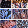 Seafood at the market in Thailand - Stock Photo