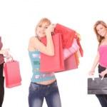 Group of shopping girls — Stock Photo #2479412