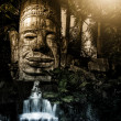 Stock Photo: Bayons Angor-Wat waterfall