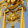 Royalty-Free Stock Photo: Golden gate of the Versailles palace