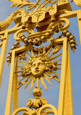 Golden gate of the Versailles palace — Stock Photo