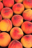 Peaches at the market in Italy — Stock Photo
