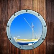 Boat closed porthole — Stock Photo #25290955