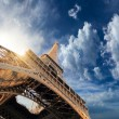 The Eiffel tower  Paris France - Stock Photo
