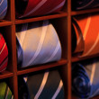 Ties in rack — Stockfoto