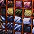 Ties in rack — Stock Photo