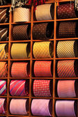 Ties in rack — Stock Photo