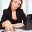 Young business woman standing — Stock Photo #25448249