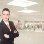 Portrait of a saleswoman man — Stock Photo
