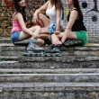 Three young women outdoor — Stock Photo