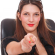 Portrait of a young attractive business woman. — Stock Photo