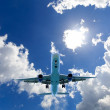 Airplane in the sky — Stock Photo #25562699