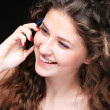 Portrait of glamor woman talking on the phone  — Foto Stock