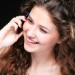 Portrait of glamor woman talking on the phone  — 图库照片