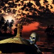 Pirate in the caribbeans — Stock Photo