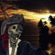 Pirate in caribbeans — Stock Photo #25993005