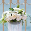 Stock Photo: Wedding white bouquet near beachfront