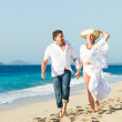Happy mature couple on the beach — Stock Photo #26082633