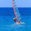 Man windsurfing Recreation — Stock Photo
