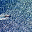 Motor boat in the Ionian sea — ストック写真