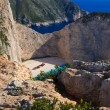 Shipwreck Navagio beach in Zakynthos  — Stockfoto
