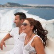 Picture of happy young couple in port — Stock Photo #26632205