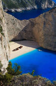 Shipwreck Navagio beach in Zakynthos — Stock Photo