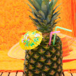 Tropical cocktail on the beach — Stock Photo