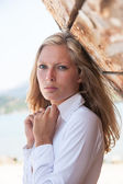 Portrait of sexy blond woman — Stock Photo