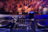 Dancing radial blur effect in Laganas Zakynthos Greec — Stock Photo