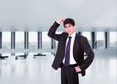 Business man posing at the office — Stock Photo