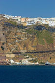 Overview on Fira in Santorini — Stock Photo